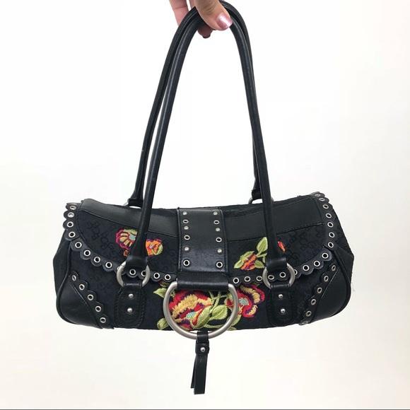 BCBGirls Handbags - BCBG Girls Black Purse with Embroidery 🖤✨